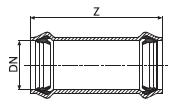 Муфта надвижная из PVC-U