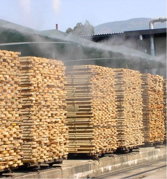 Использование систем тумана в деревообрабатывающей промышленности