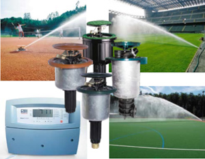 Система автоматического полива спортивных площадок